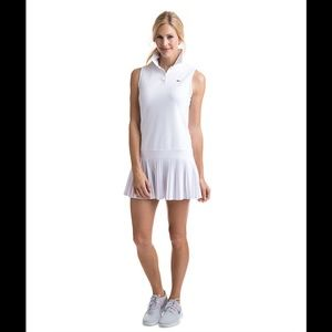 Vineyardvines performance white pleat tennis dress
